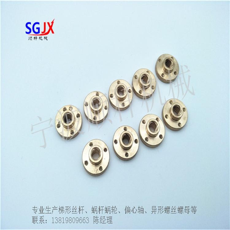 消隙螺母 法兰铜螺母  弹簧螺母